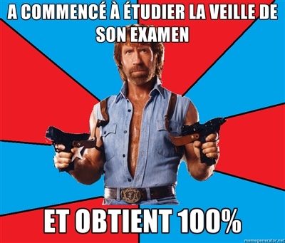 100% à vos examens finaux?